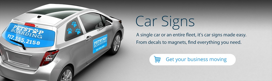 Car Signs Custom Car Signs For Business Advertising Signazoncom - Modern business vehicle decals