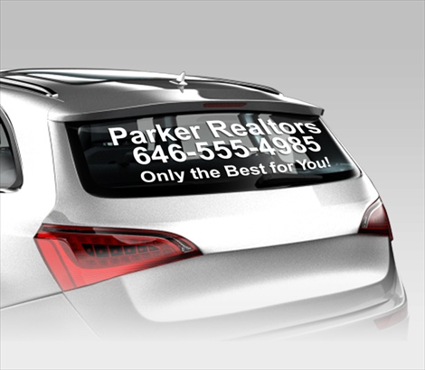 Car Window Lettering For Customized Advertising Signazoncom - Vinyl window clings for cars
