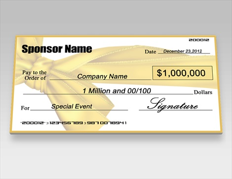 Donation checks charity checks signazon for Oversized check template