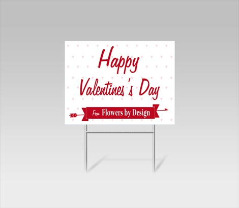 Valentines Day Yard Signs Valentines Day Lawn Signs Signazon